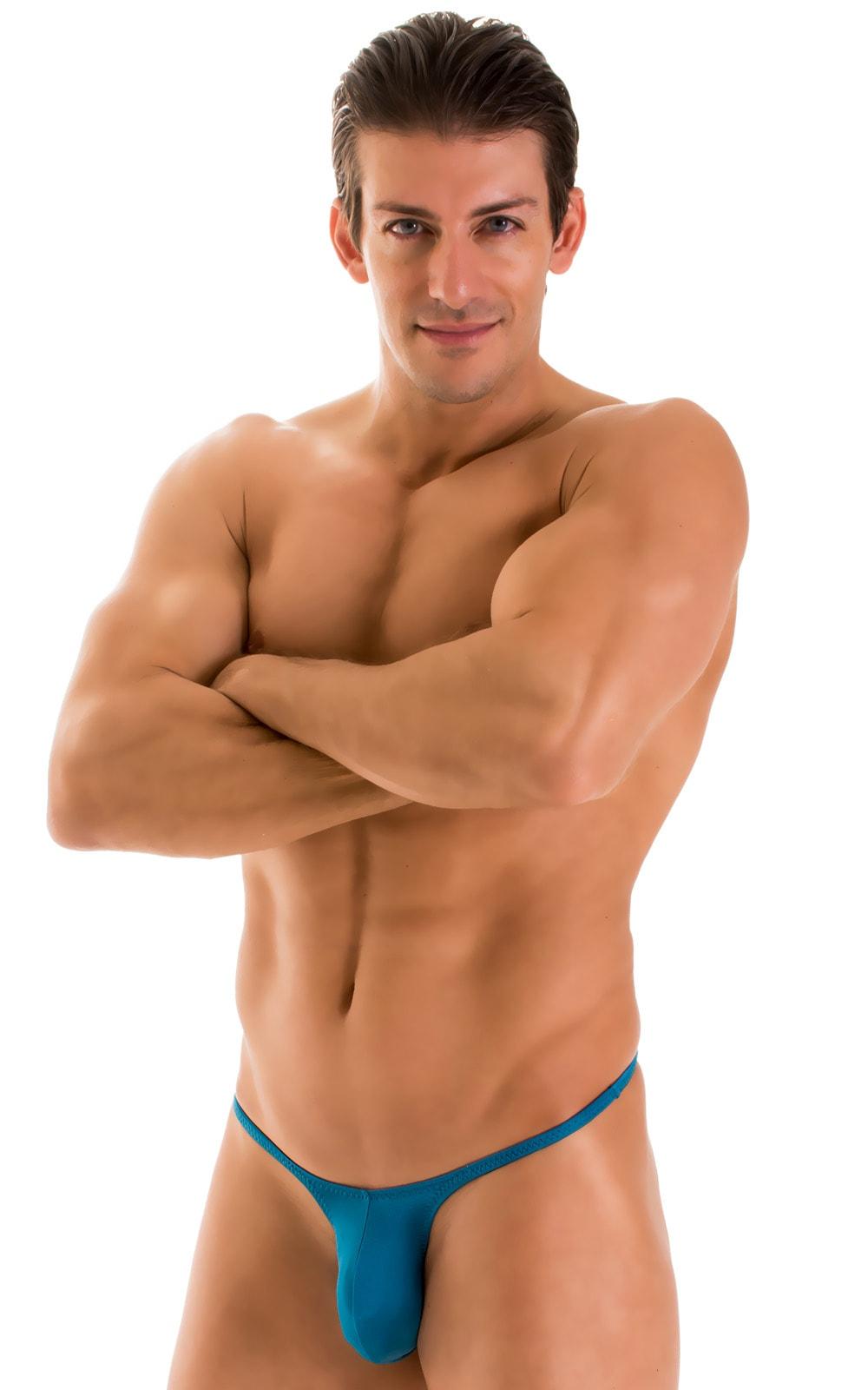 Sunseeker Micro Pouch Half Back Bikini in Mallard Green 1