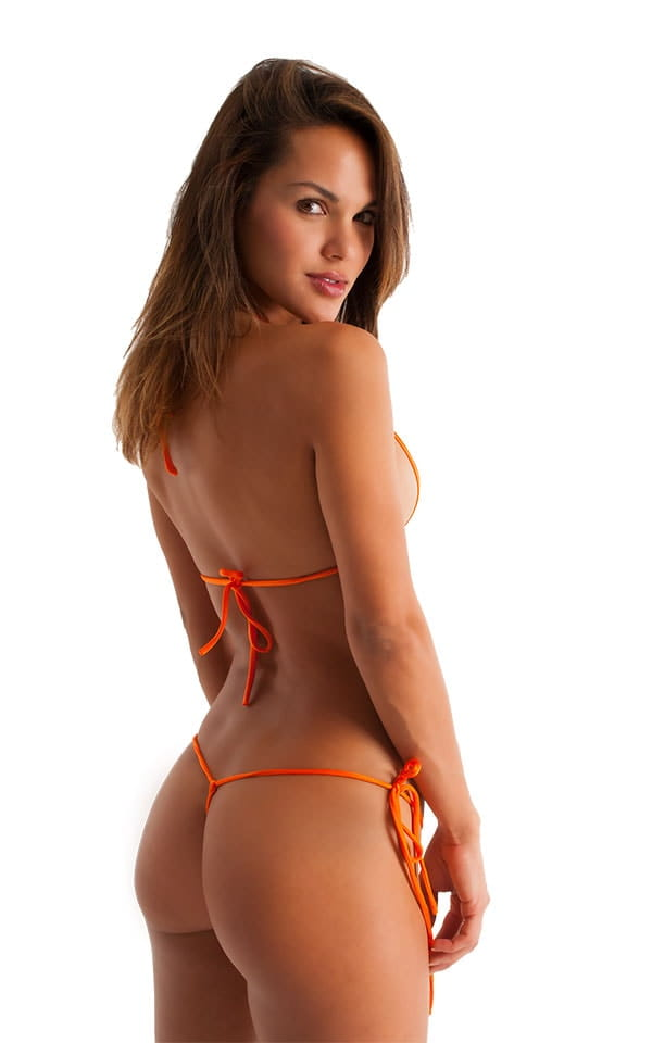 Womens Sexy Teardrop Swimsuit Top in Dark Orange 3