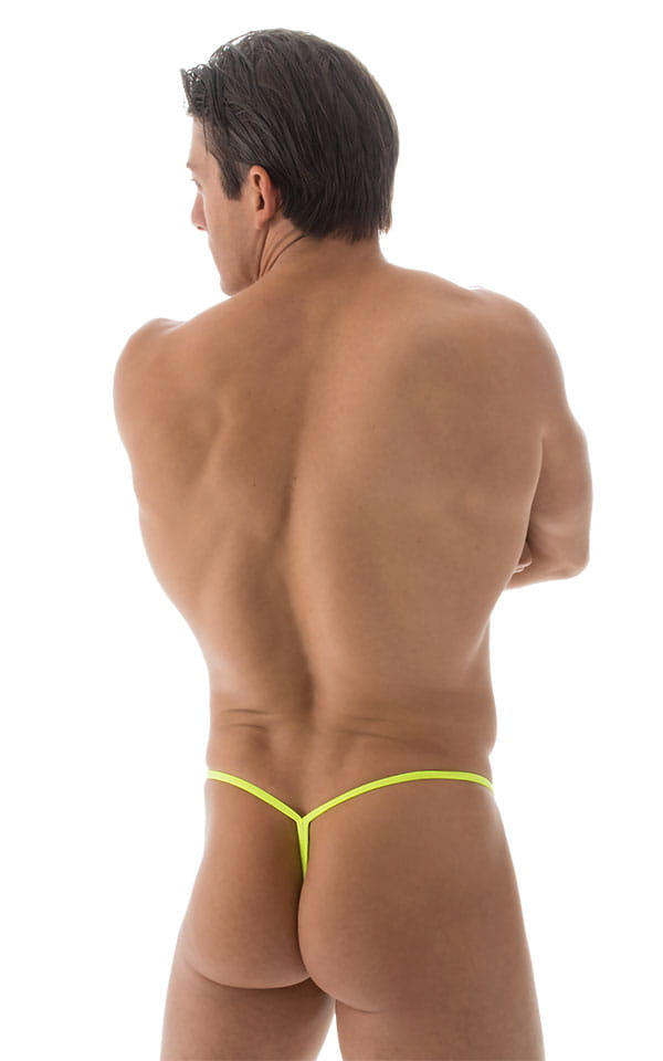 Y Back G String Swim Thong in ThinSkinz Chartreuse 3