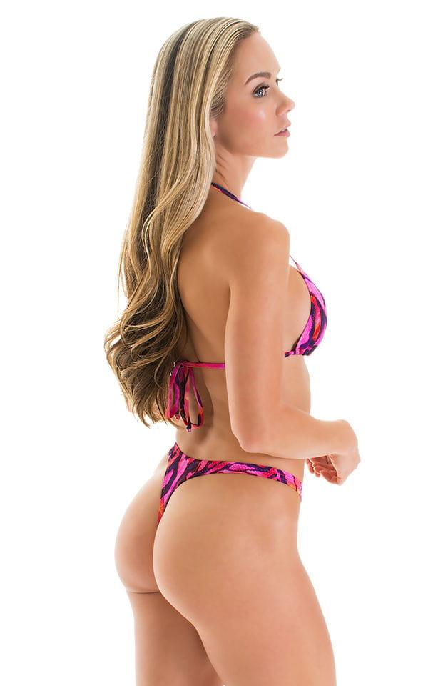 High Cut Thong Bottom in Beach Tiger Pink 2