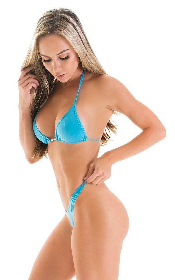 High Cut Thong Bottom in ThinSKINZ Sapphire 1