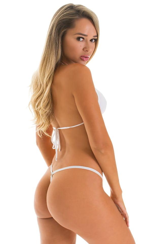 G String Bikini in Super ThinSKINZ White 2