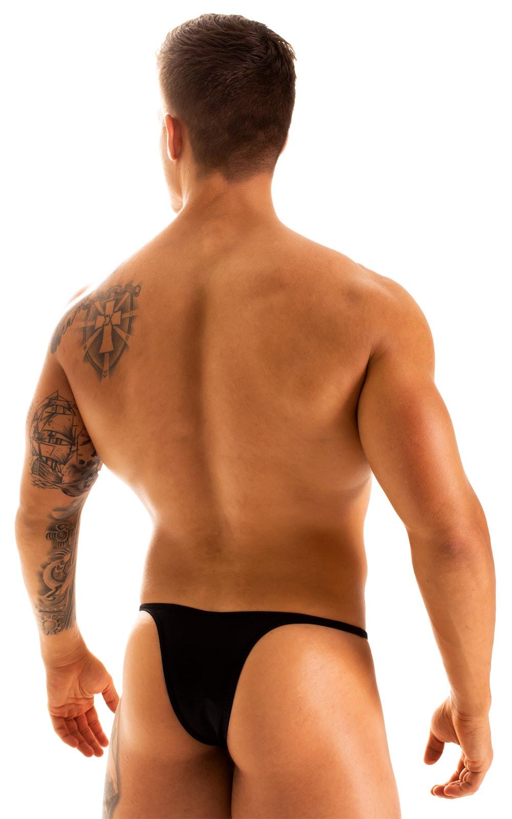 Sunseeker Micro Pouch Half Back Bikini in Black 2
