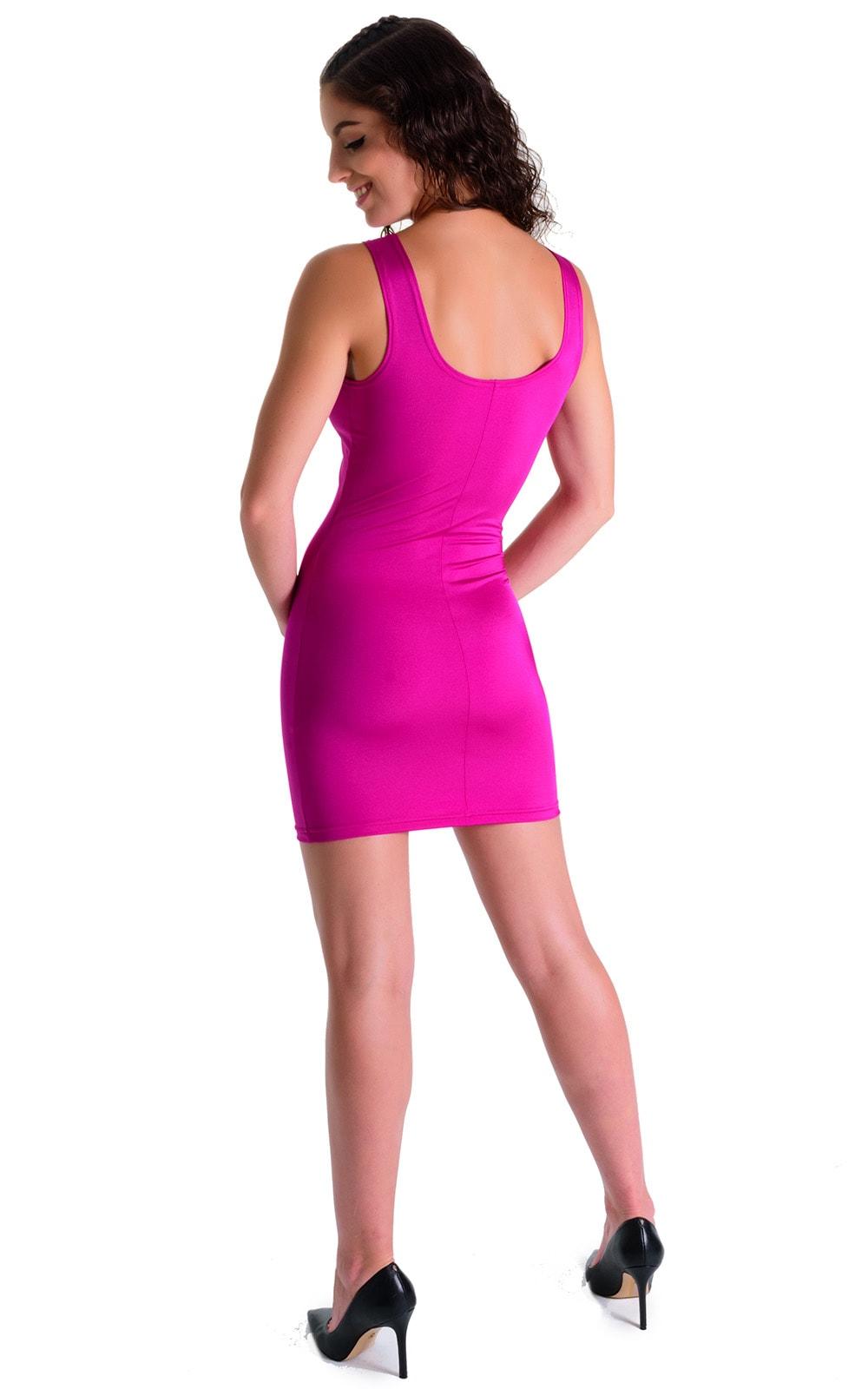 Mini Dress in Magenta 4