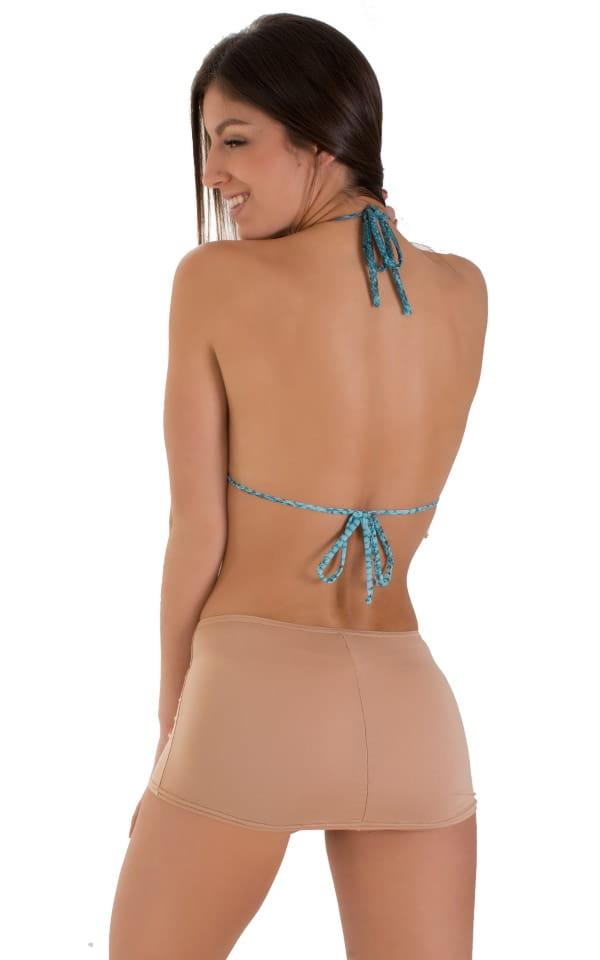 Micro Mini Skirt in Super ThinSKINZ Nude 3