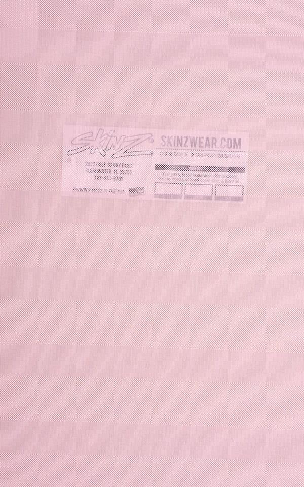 Pink Satin Stripe Mesh Fabric