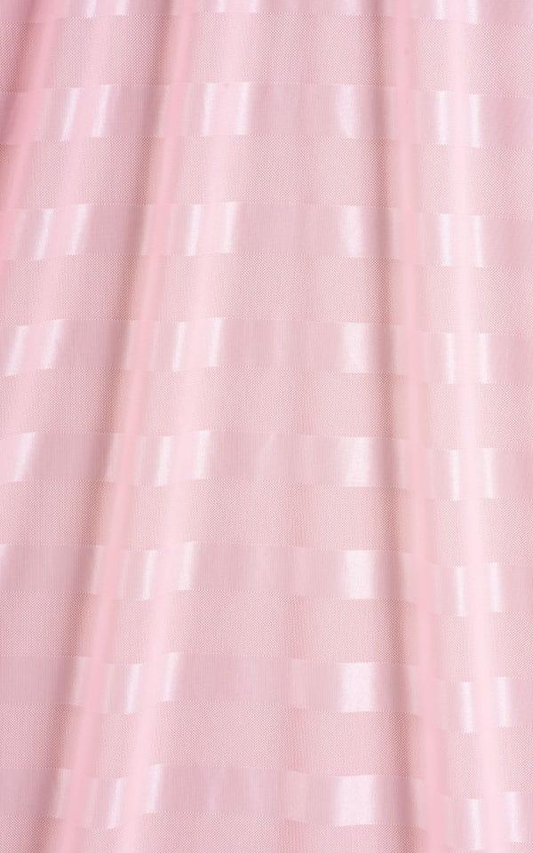 Micro Mini Dress in Pink Satin Stripe on Mesh Fabric
