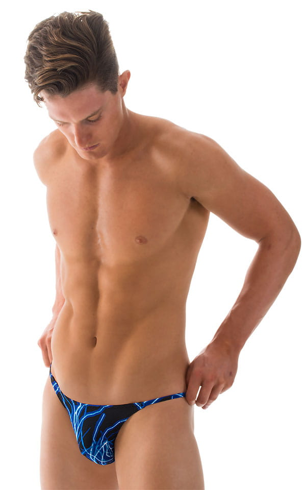 Super Low Brazilian Bikini in Blue Lightning - PEP Lining 1