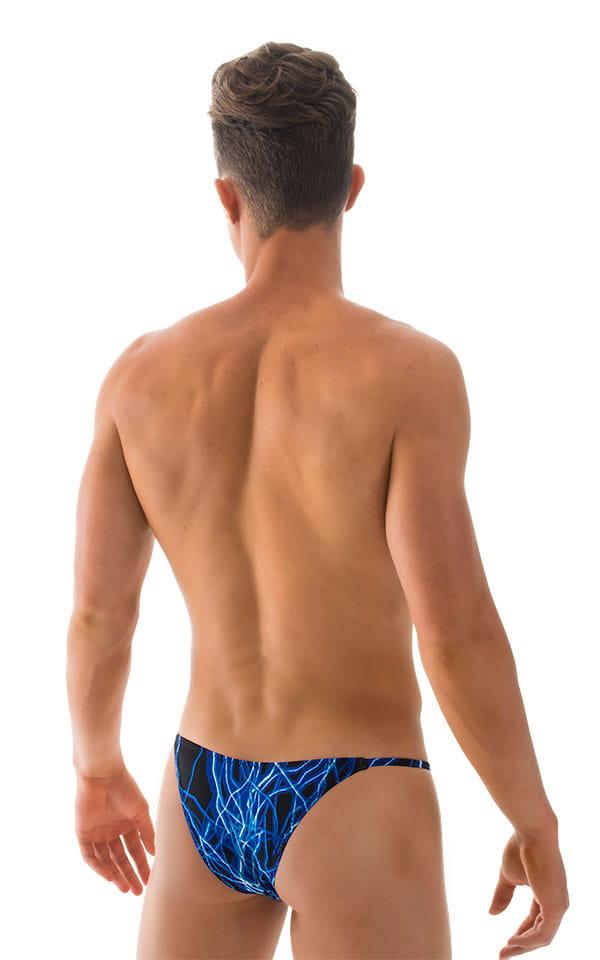 Super Low Brazilian Bikini in Blue Lightning - PEP Lining 3