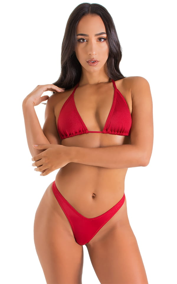 High Cut Thong Bottom in ThinSKINZ Red 1