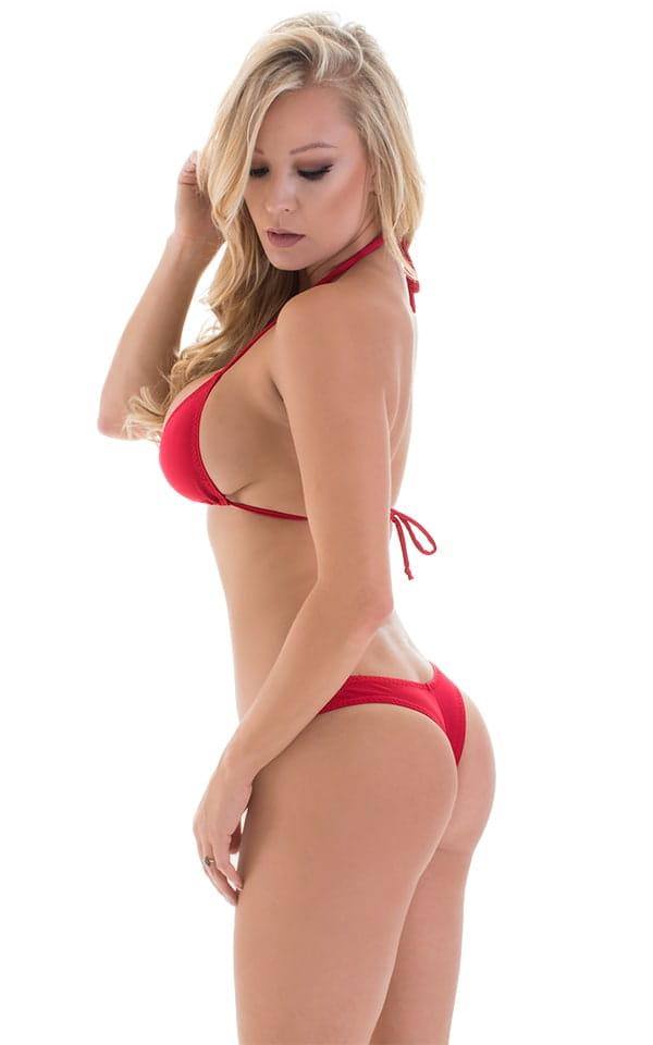 Micro Booty Thong Bikini in ThinSKINZ Red 4
