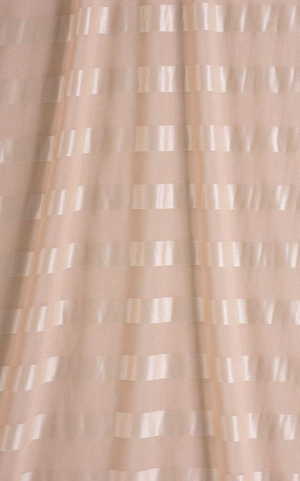 Sleeveless Lycra Muscle Tee in Sand Satin Stripe Mesh Fabric