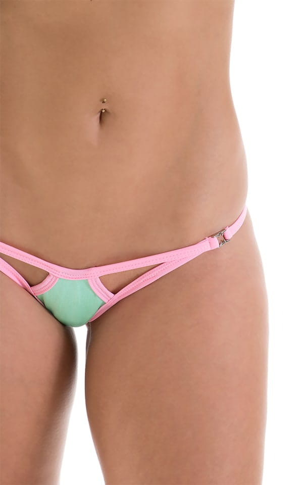 Twin Tip Micro G String in Mint with Pink 4