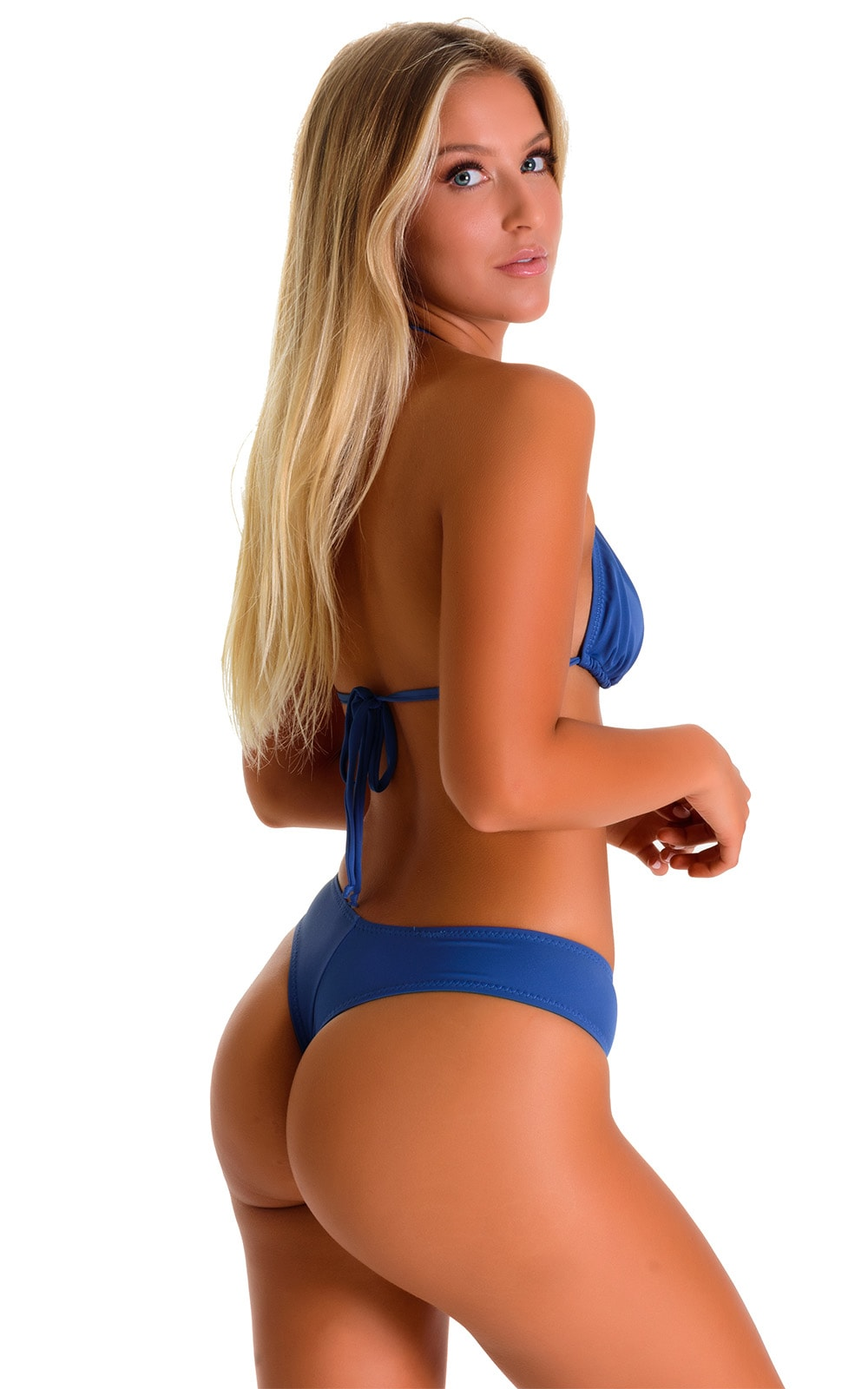 Classic Triangle Swimsuit Top in Globe Blue 2