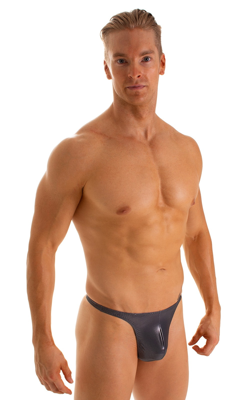 T Back Thong Swimsuit in Black Ice 1
