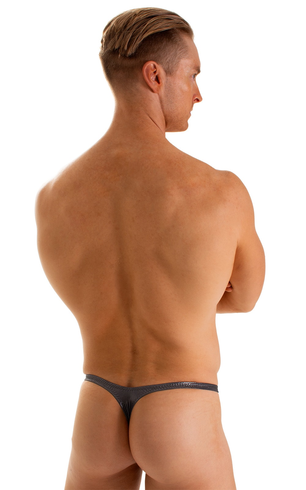 T Back Thong Swimsuit in Black Ice 2