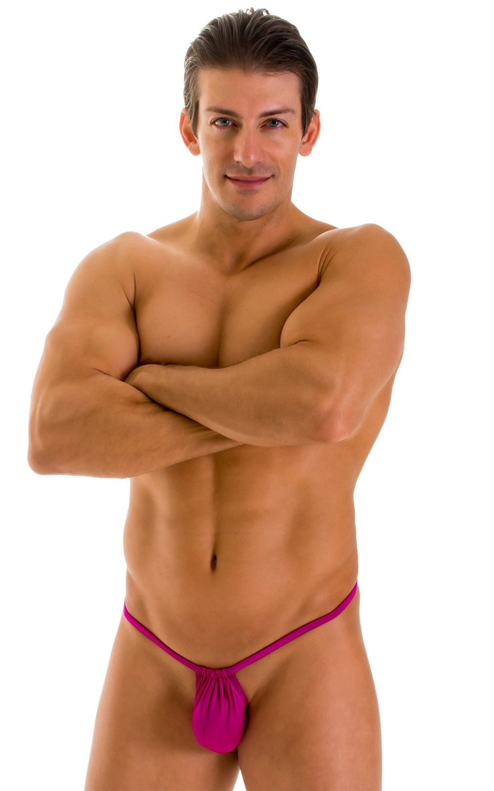 G String Swimsuit - Adjustable Pouch in Magenta  3