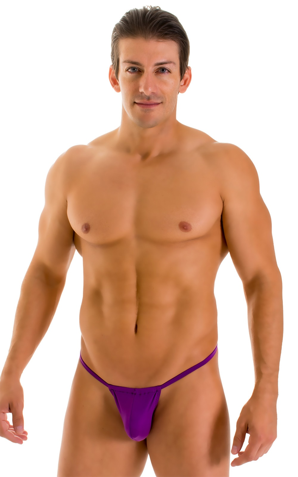 G String Swimsuit - Adjustable Pouch in ThinSKINZ Grape  3