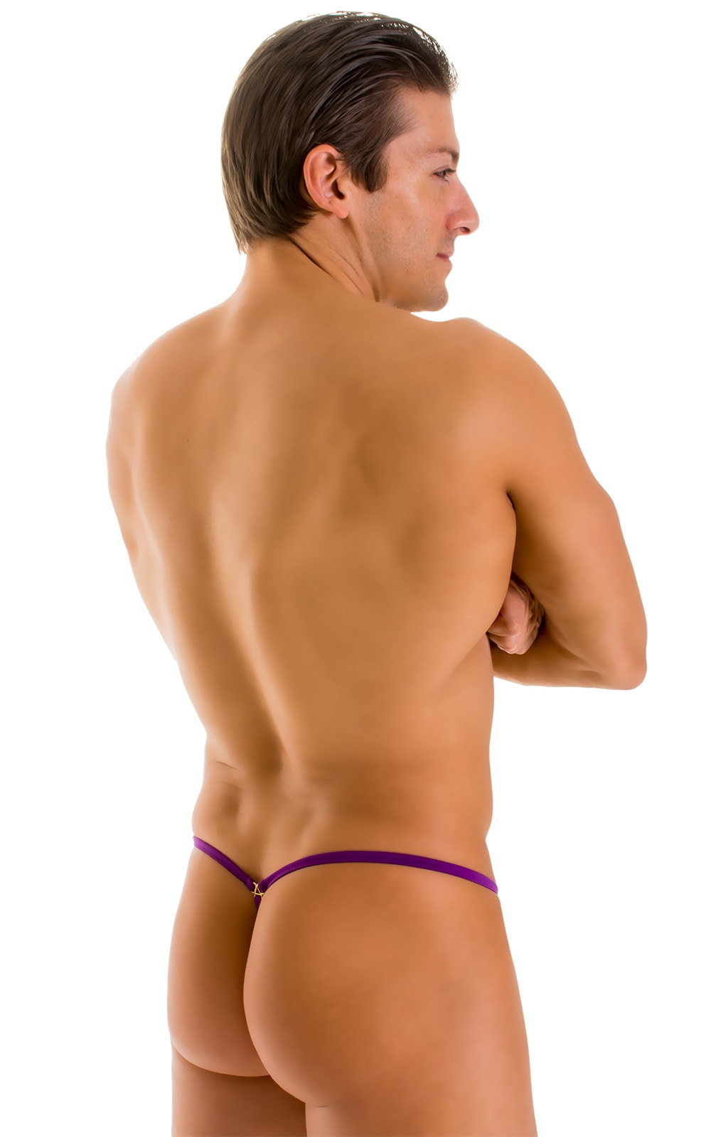 G String Swimsuit - Adjustable Pouch in ThinSKINZ Grape  2