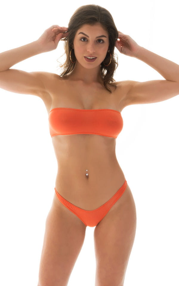 Tanning Bandeau Swimsuit Top in ThinSKINZ Apricot 3