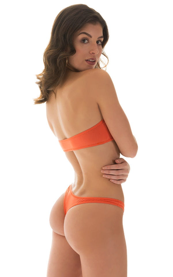 Tanning Bandeau Swimsuit Top in ThinSKINZ Apricot 2