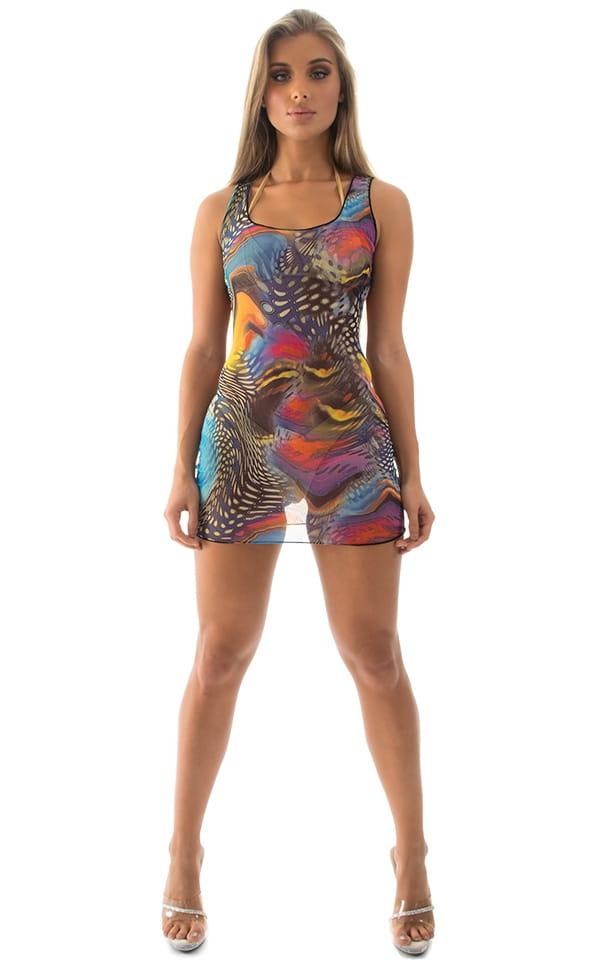 Micro Mini Dress in Mesh Aquarious 3