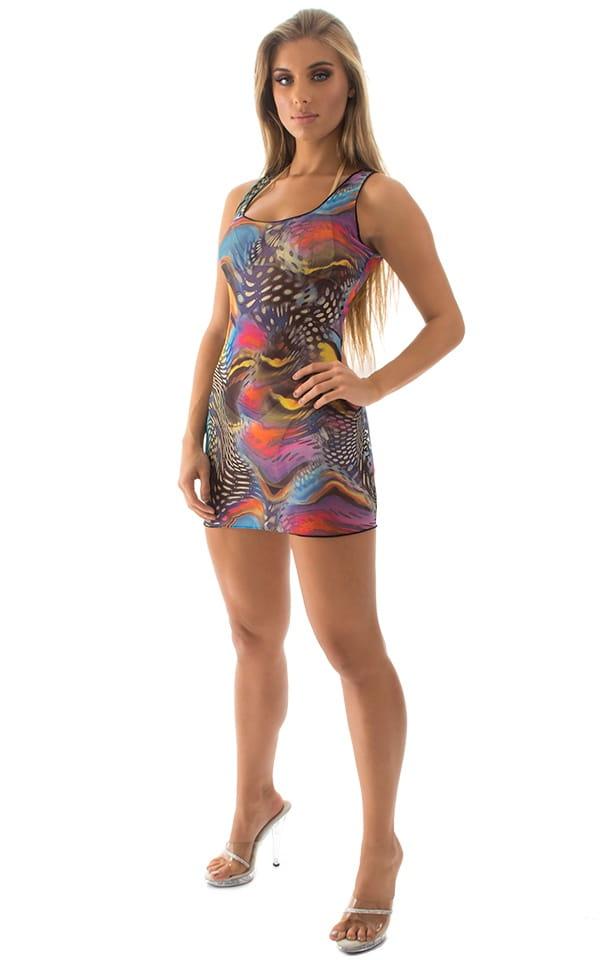 Micro Mini Dress in Mesh Aquarious 4
