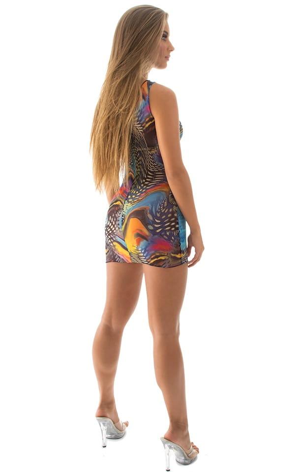 Micro Mini Dress in Mesh Aquarious 5