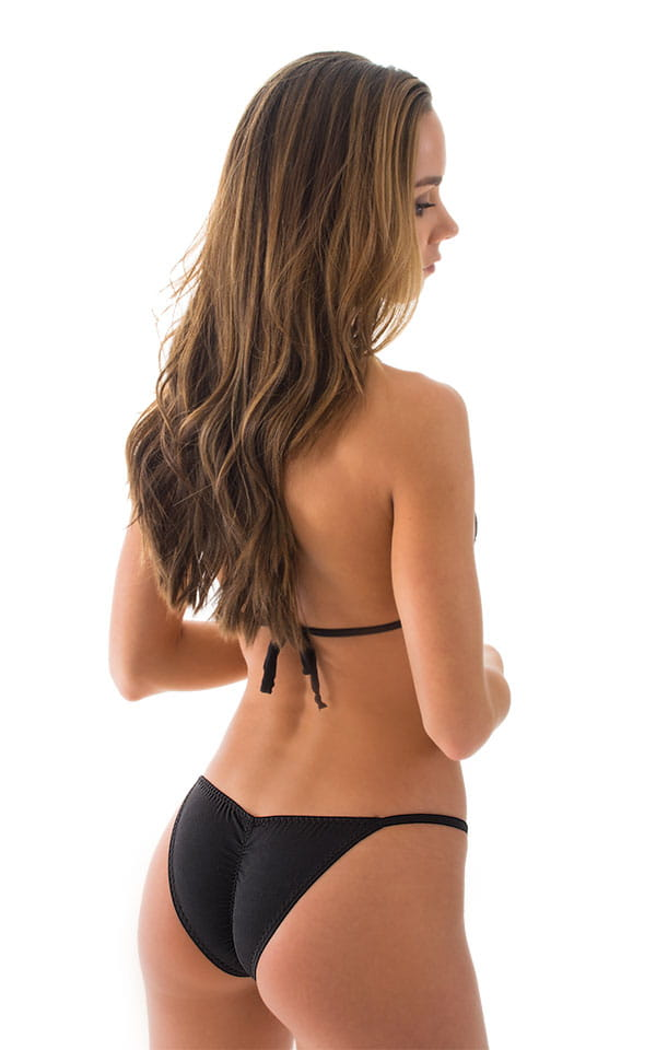 Brazilian Pucker Butt Bikini in ThinSKINZ Black 3