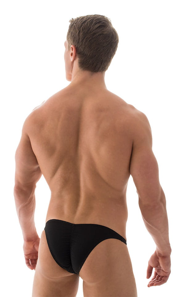 Fitted Pouch Puckered Back Bikini in ThinSKINZ Black 3