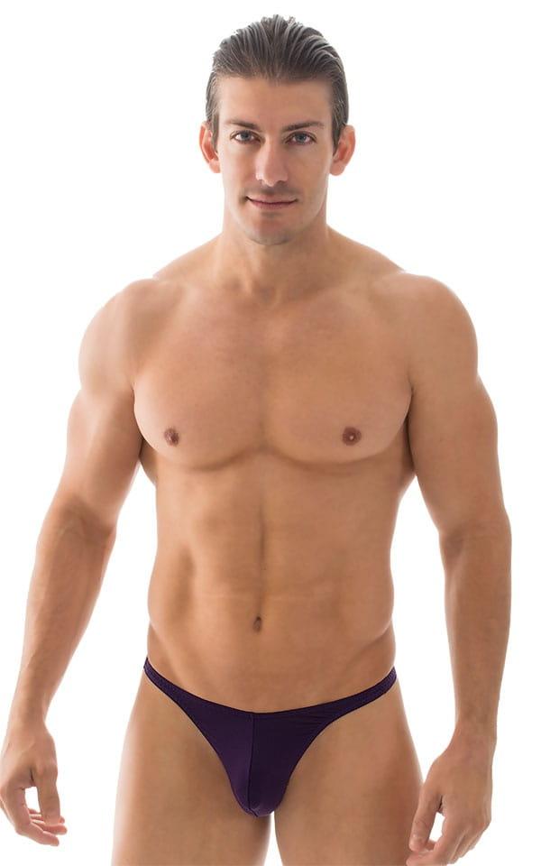 T Back Thong Swimsuit in ThinSkinz Blackberry 4