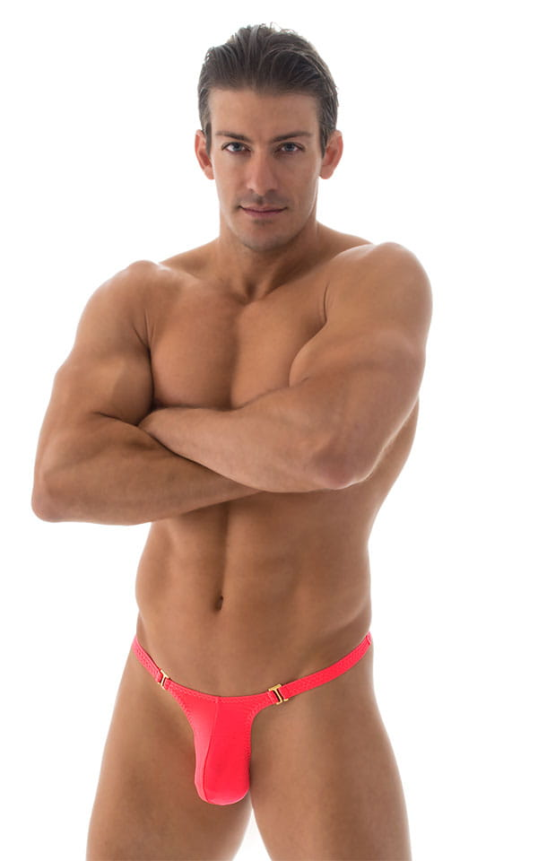 Quick Release Thong - Bravura Pouch in ThinSKINZ Neon Coral 1