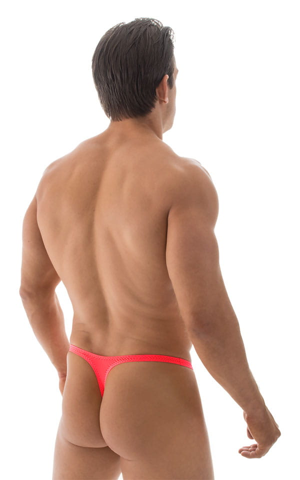 Quick Release Thong - Bravura Pouch in ThinSKINZ Neon Coral 3