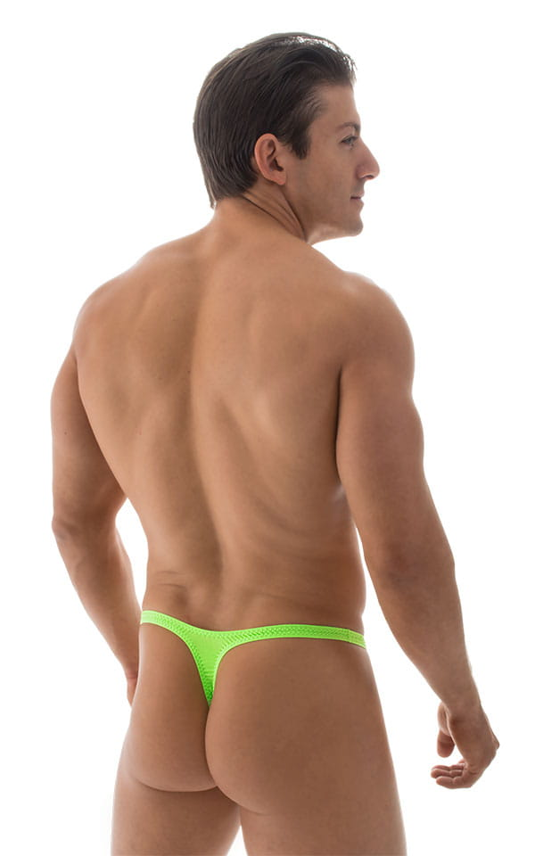 Quick Release Thong - Bravura Pouch in ThinSKINZ Neon Lime 3