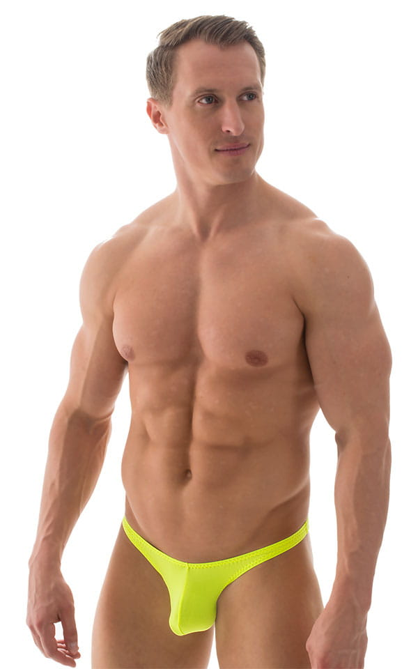 Fitted Pouch Puckered Back Bikini in ThinSKINZ Neon Chartreuse 1