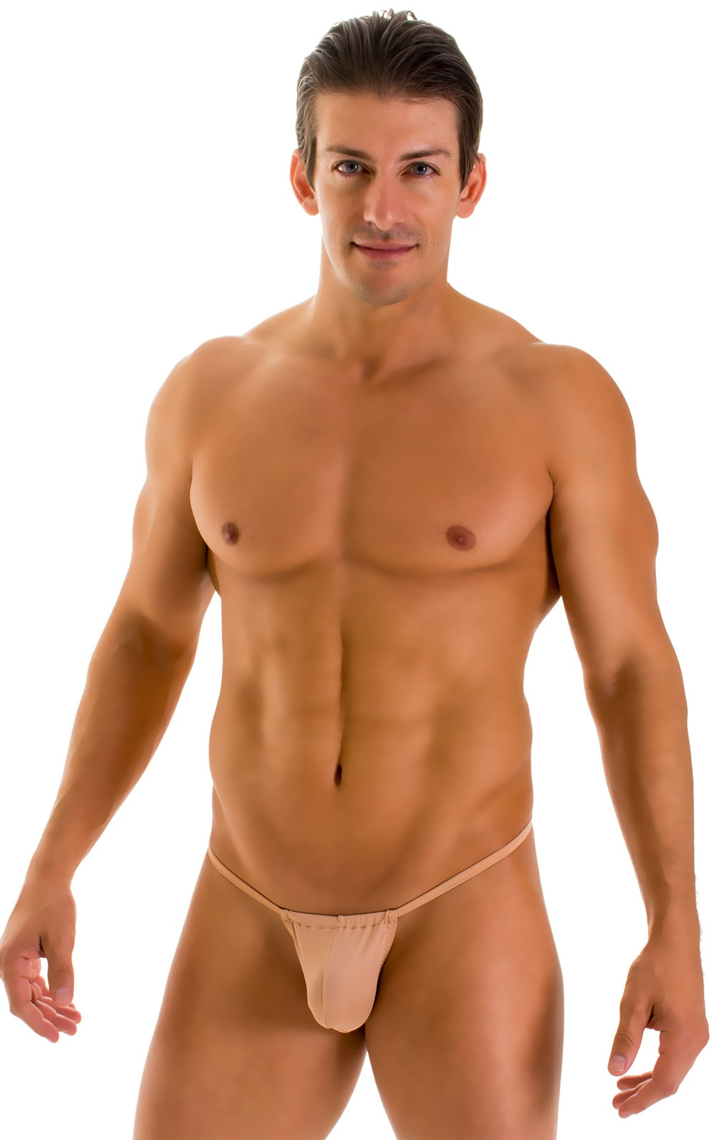 G String Swimsuit - Adjustable Pouch in Super ThinSKINZ Nude  3