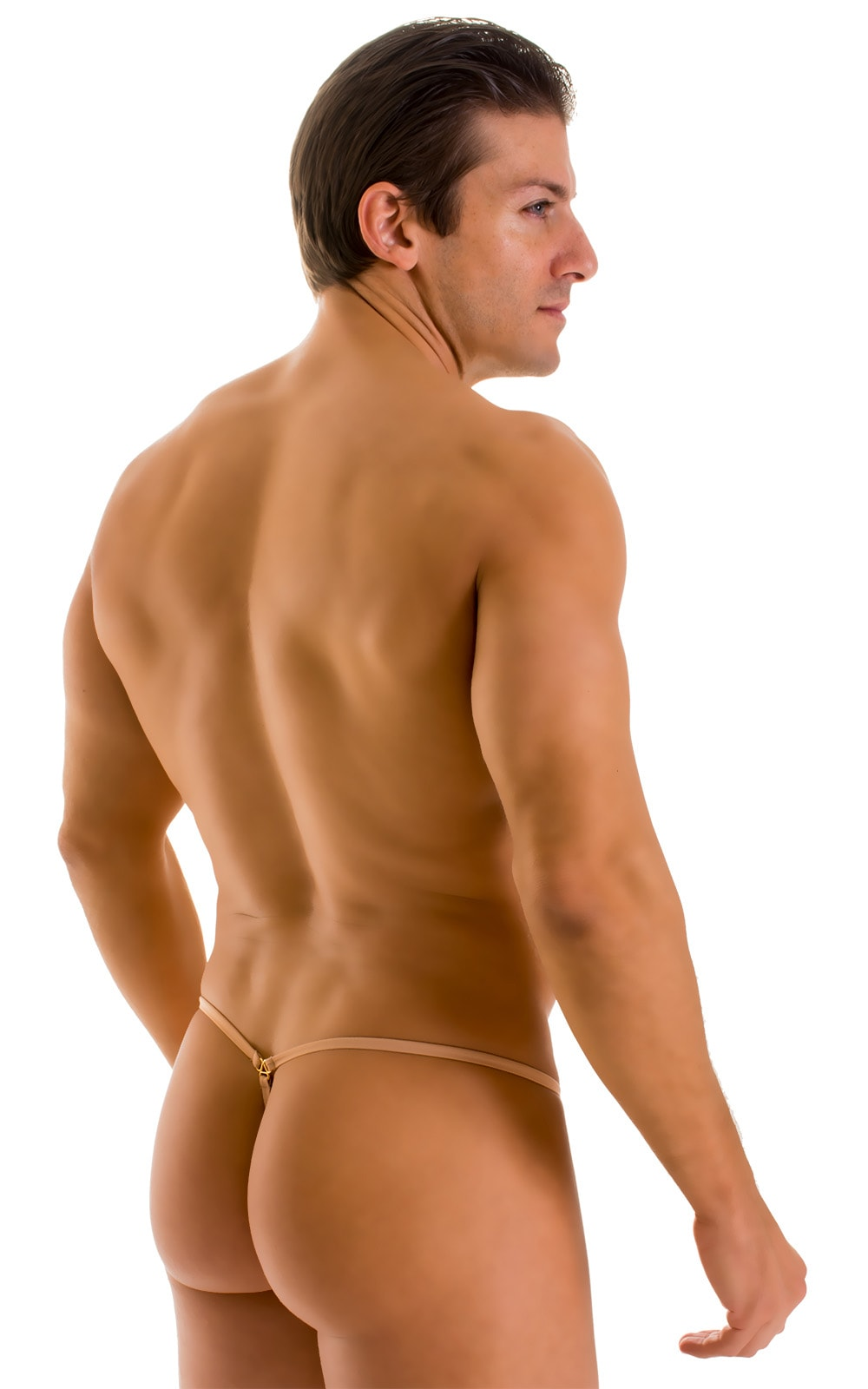 G String Swimsuit - Adjustable Pouch in Super ThinSKINZ Nude  2
