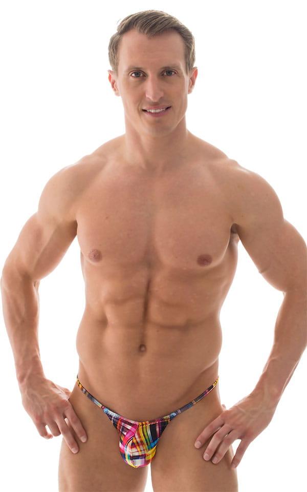 Micro Pouch - Puckered Back - Rio Bikini in ThinSKINZ Optic Plaid 1