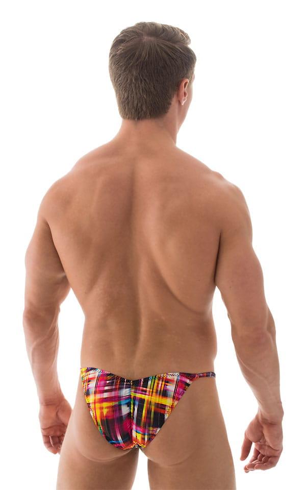 Micro Pouch - Puckered Back - Rio Bikini in ThinSKINZ Optic Plaid 3