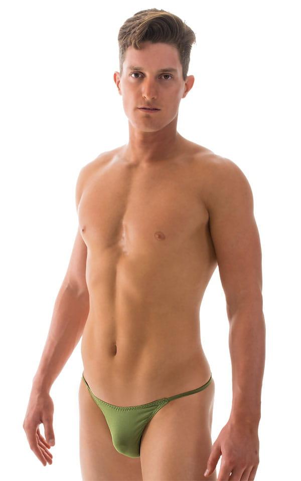 Super Low Brazilian Bikini in ThinSKINZ Sage 1