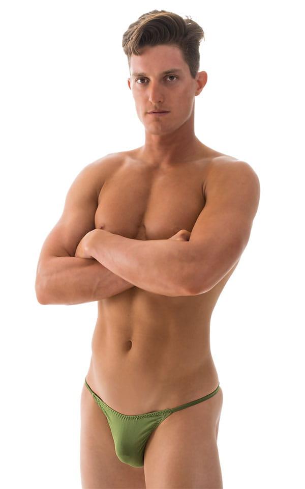 Super Low Brazilian Bikini in ThinSKINZ Sage 4