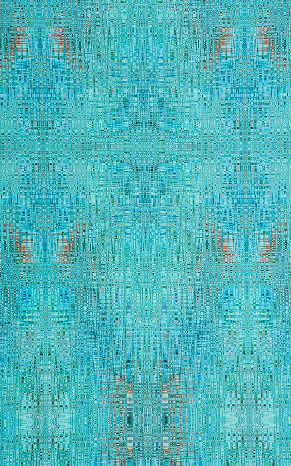 Tanga Cheekini Bikini in Super ThinSKINZ Seafoam Circuits Fabric