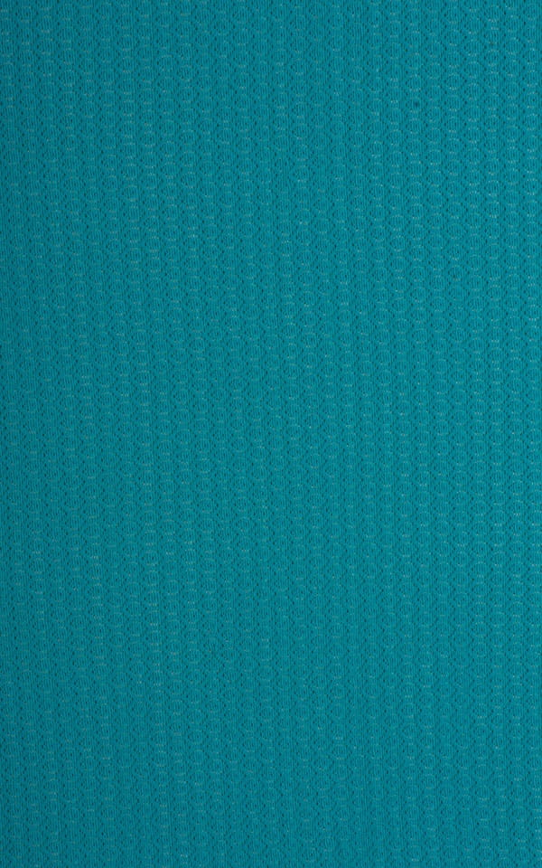 Sleeveless Lycra Muscle Tee in Teal Stretch Lace Fabric
