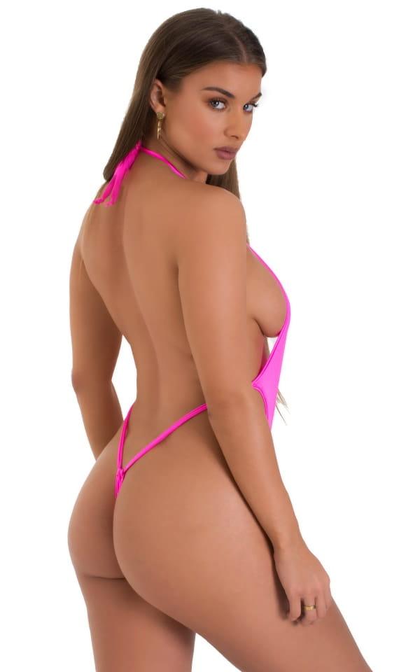 Vegas Micro Monokini G String in Hot Pink 1