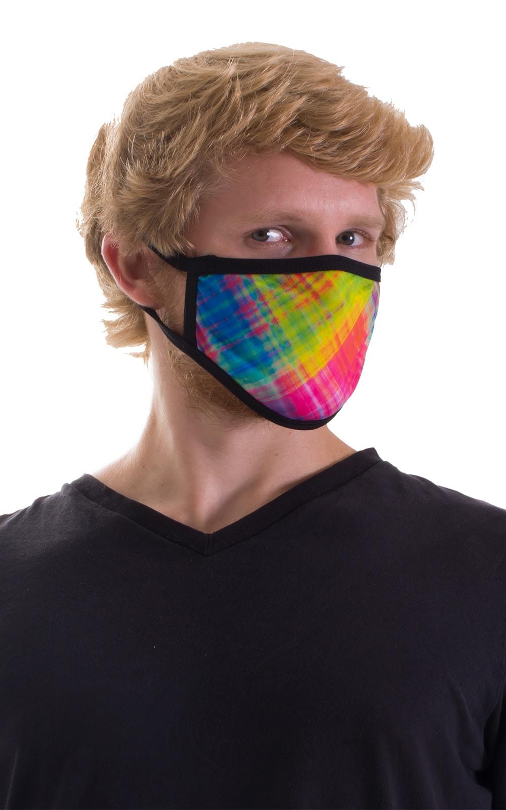 Diagonal Plaid-Black 2-ply face mask 6
