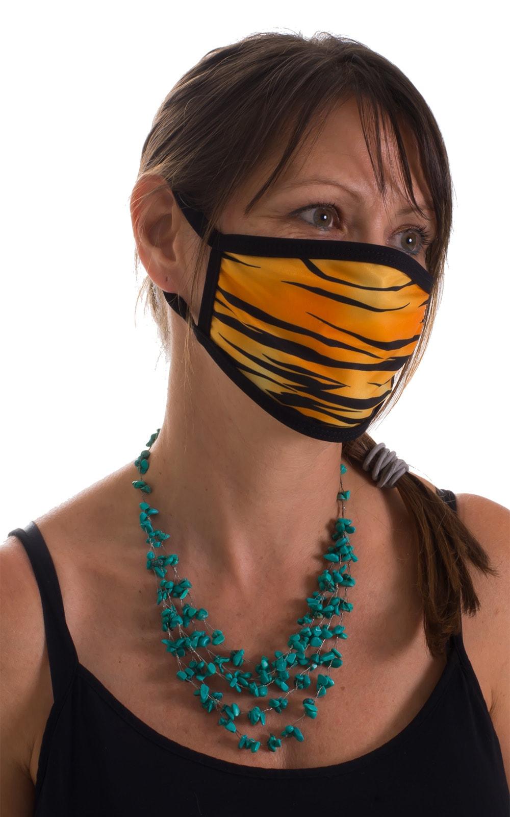 Golden Kat-Black 2-ply face mask 3