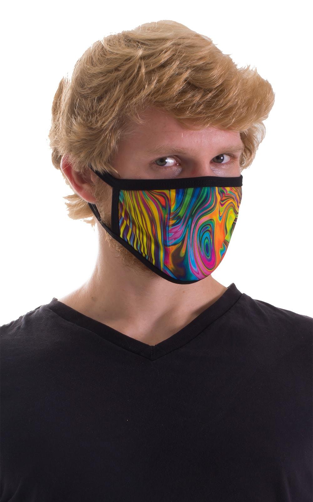 Neon Dali-Black 2-ply face mask 6