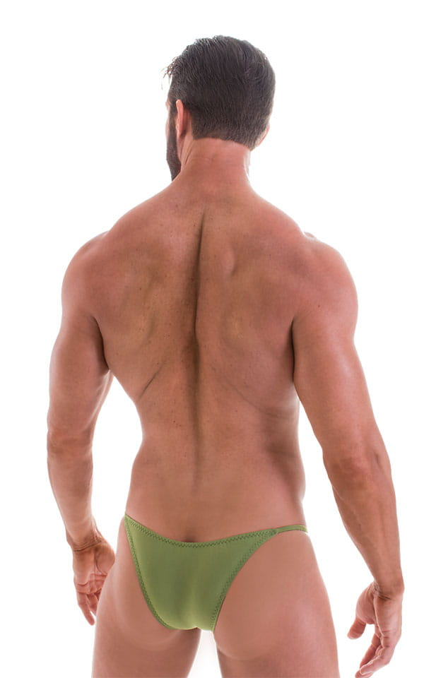 Stuffit Pouch Half Back Tanning Swimsuit in ThinSKINZ Sage 3