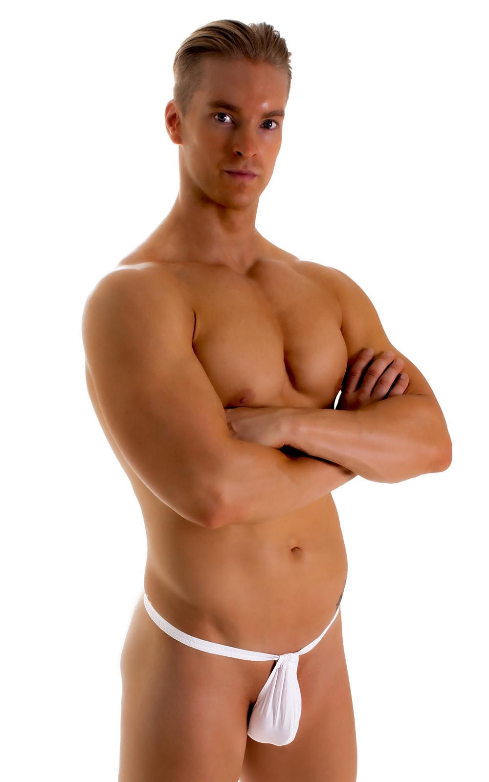 4-Way Adjustable Bikini-Tanga-Micro in Super ThinSKINZ White 3