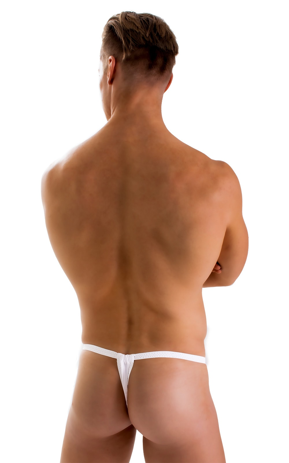 4-Way Adjustable Bikini-Tanga-Micro in Super ThinSKINZ White 4